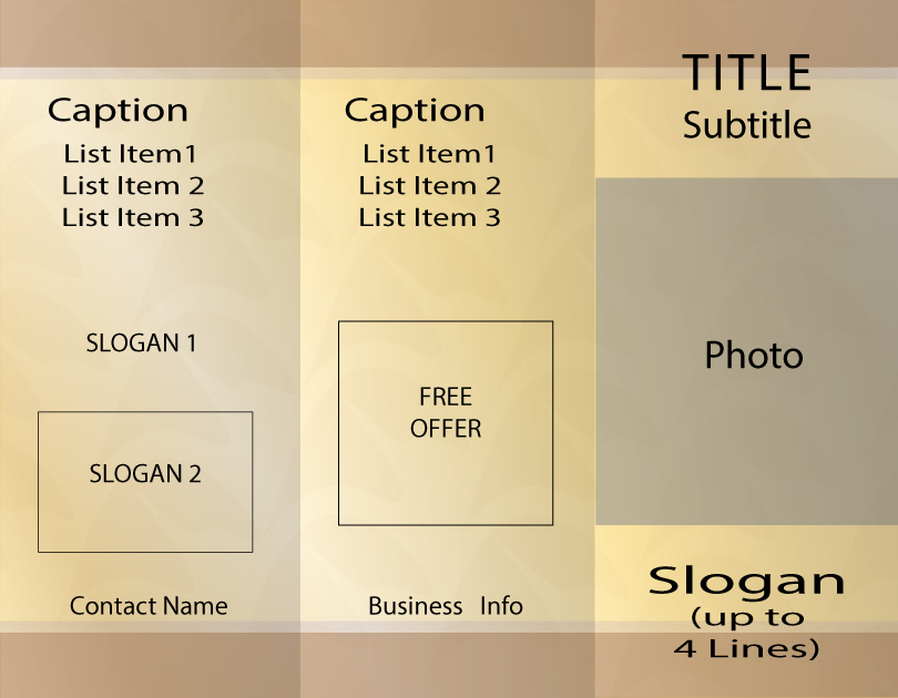 Beige Brochure Background Template Sample