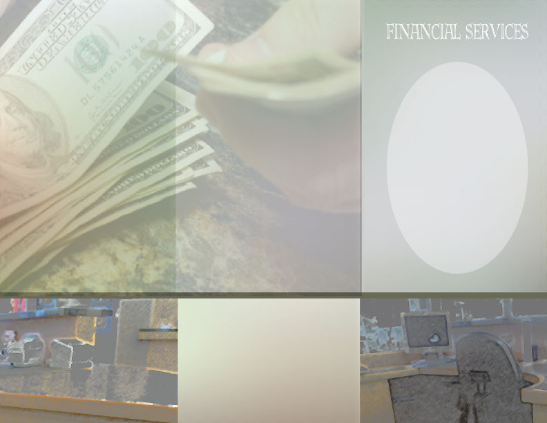 Financial Services Brochure Background Sample
