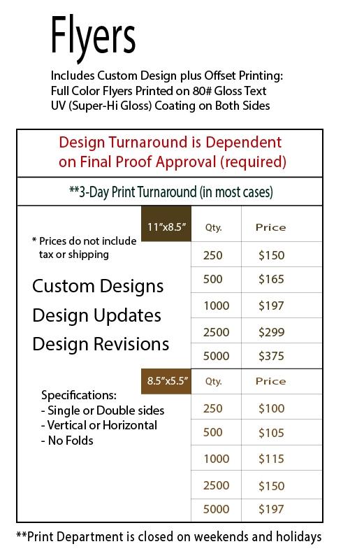 flyer design product interest mavc graphics services