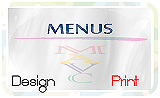 Menus Design and Printing